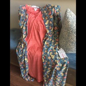 NWT Carly Dress Sz S Coral Soft as butter